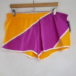 Nike Orange and Pink Athletic Running Shorts